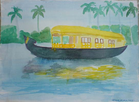 Boat House Painting